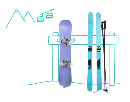 ship skis to the mountain