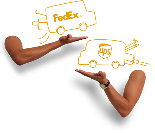 ups and fedex luggage shipping